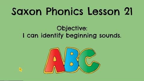 Thumbnail for entry Saxon Phonics Lesson 21