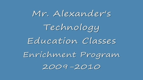 Thumbnail for entry VMS Mr. Alexander EP 2009-2010