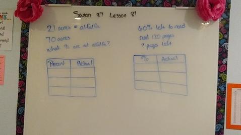 Thumbnail for entry Saxon 8/7 Lesson 81