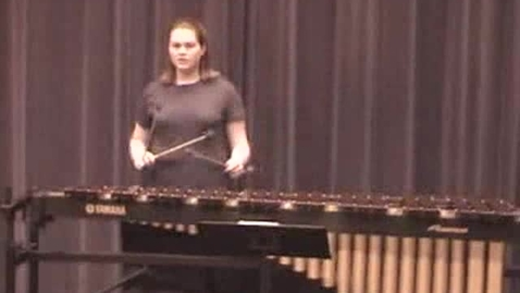 Thumbnail for entry Chelsea Sparks mallet audition - Solo audition