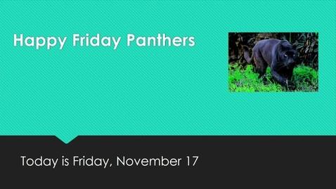 Thumbnail for entry Friday, November 17, 2017