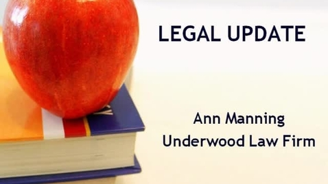 Thumbnail for entry Legal Issues 2011