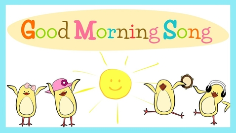 Thumbnail for entry Good Morning Song for Kids (with lyrics) | The Singing Walrus