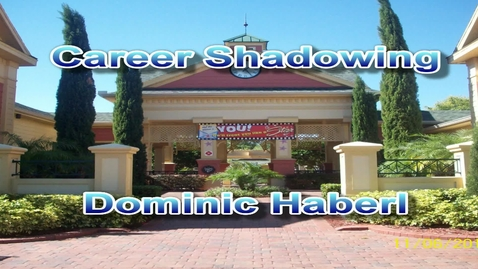 Thumbnail for entry Career Shadowing (Complex Manager) Dominic Haberl