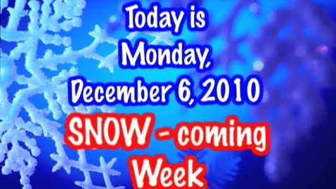 Thumbnail for entry Monday, December 6, 2010