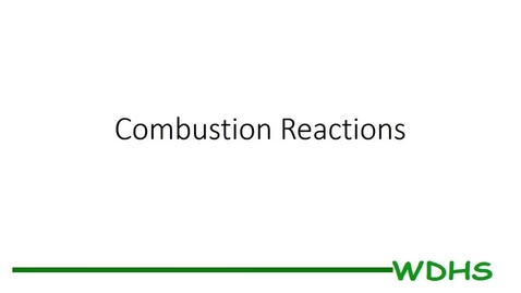 Thumbnail for entry Combustion Reactions PS