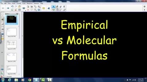Thumbnail for entry Empirical and Molecular Formulas
