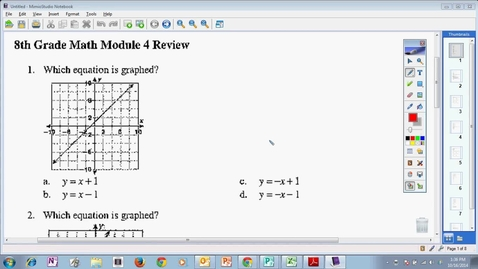 Thumbnail for entry Module 4 Test Review Nonproportional Linear Relationships