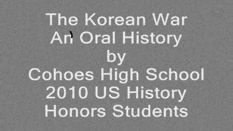 Thumbnail for entry Korean War: An Oral History