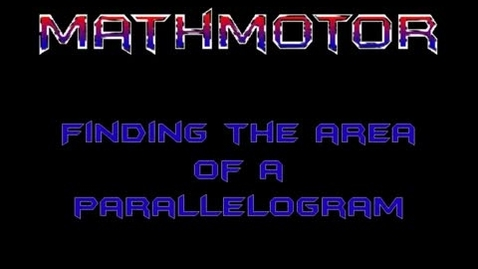 Thumbnail for entry Area of Parallelograms2