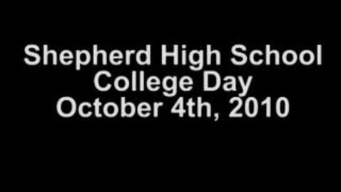 Thumbnail for entry Shepherd HS College Day