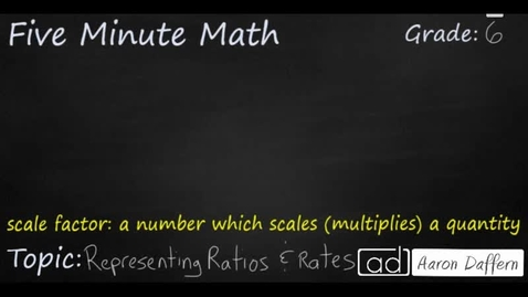 Thumbnail for entry 6th Grade Math Representing Ratios and Rates