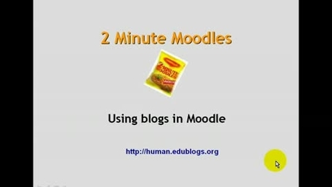Thumbnail for entry Moodle Blogs
