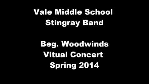 Thumbnail for entry Beg. Woodwinds 1st period - Spring 2014