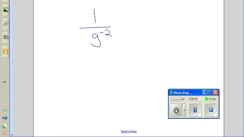 Thumbnail for entry Negative exponents example 4
