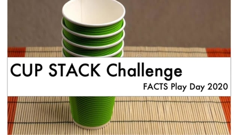 Thumbnail for entry Teacher Cup Stack Challenge