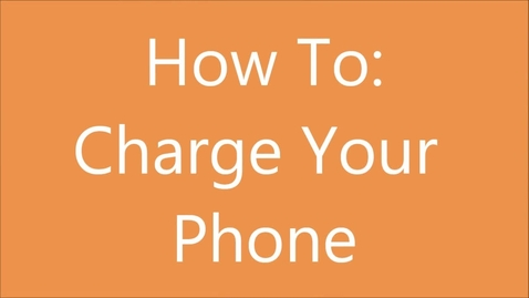 Thumbnail for entry how to charge your phone