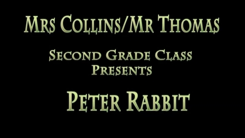Thumbnail for entry Peter Rabbit 2015 Collins/Thomas