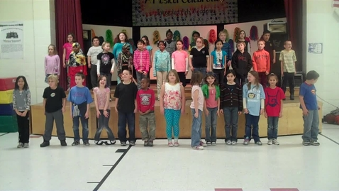 Thumbnail for entry Mr. Wallace's and Ms. Maggie's classes perform a movement exercise at the Integrated Arts Academy