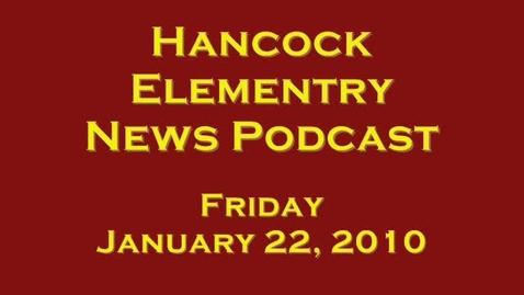 Thumbnail for entry Hancock News January 22, 2010