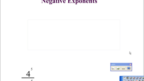 Thumbnail for entry 2-8: Zero & negative exponents