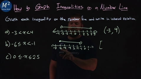Thumbnail for entry How to Graph Inequalities on a Number Line | Part 2 | 3 Examples | Minute Math