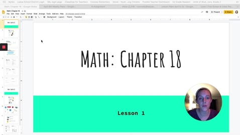 Thumbnail for entry Chapter 18 - Lesson 1