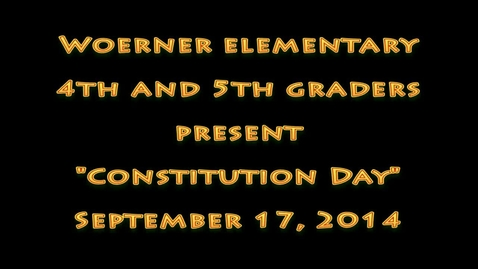 Thumbnail for entry 2014 0917 Constitution Day Program