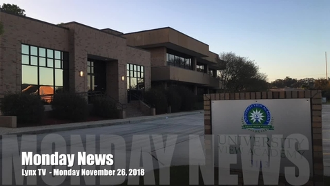 Thumbnail for entry News Monday, November 26, 2018