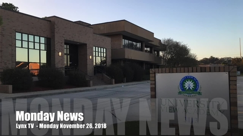 Thumbnail for entry News Monday, November 26, 2018