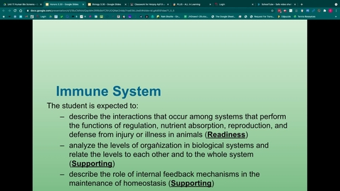 Thumbnail for entry Immune System Notes