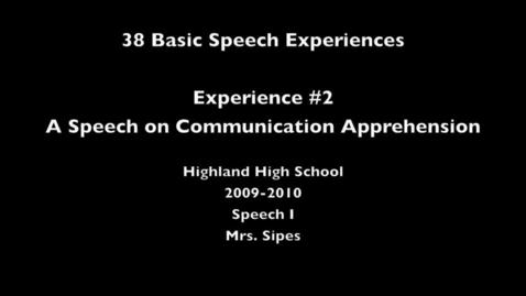 Thumbnail for entry Speech Experience # 2 Joseph R
