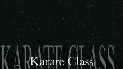 Thumbnail for entry Karate Class