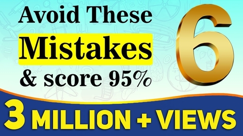 Thumbnail for entry 6 Mistakes You Should Never Make in Exams | Board Exam 2020 | Exam Tips | LetsTute