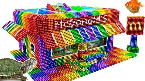 Thumbnail for entry DIY - Build Amazing McDonald Aquarium With Magnetic Balls (Satisfying) - Magnet Balls