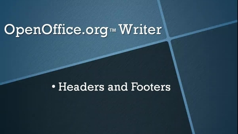 Thumbnail for entry Insert a Header and Footer in OpenOffice.org™ Writer