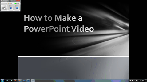 Thumbnail for entry How to Create a Video from PowerPoint