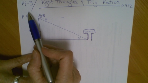 Thumbnail for entry 14.3 Right Triangles and Trig (part 2)