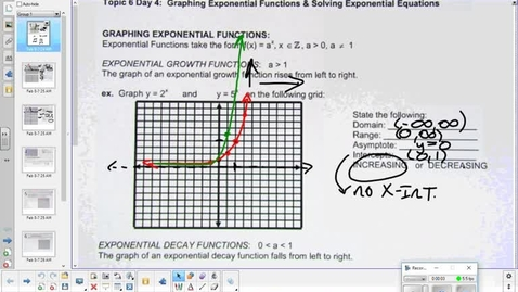Thumbnail for entry Exponential functions lesson part 2  2-15-18