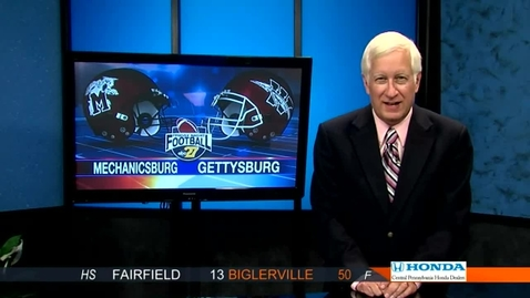 Thumbnail for entry ABC27 Friday Nite Football 9/7/12 Gettysburg vs Mechanicsburg