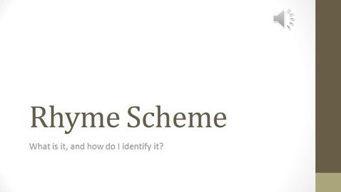 Thumbnail for entry 9th Eng_Lit Rhyme Scheme