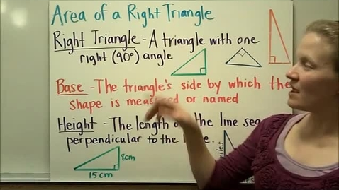 Thumbnail for entry Area of Right Triangle