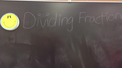 Thumbnail for entry Dividing Fractions Tutorial-1 2015
