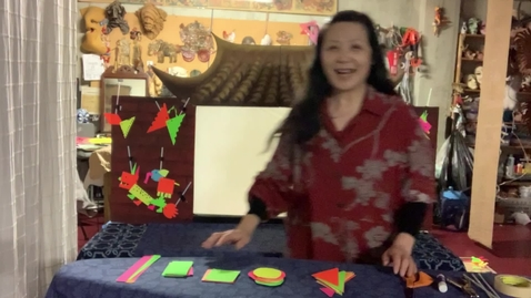 Thumbnail for entry 4thGr Chinese ShadowPuppet Theater T.HuaHua Lesson 4
