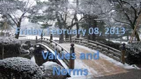 Thumbnail for entry 1.3 Values and Norms