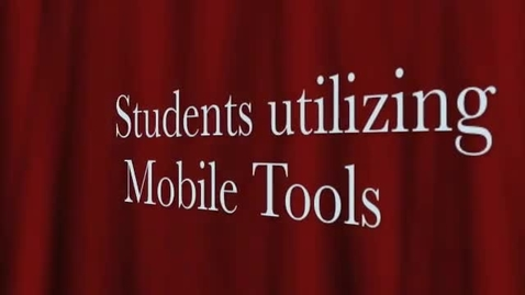 Thumbnail for entry Student IPod & Mobile Tool Use