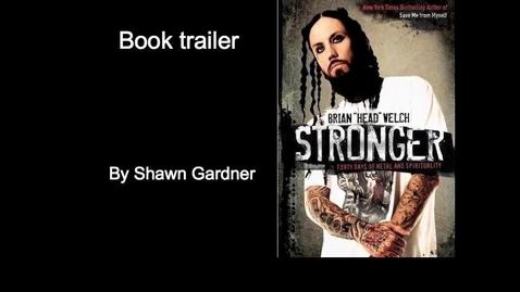 "Thumbnail for entry book trailer ""stronger"""