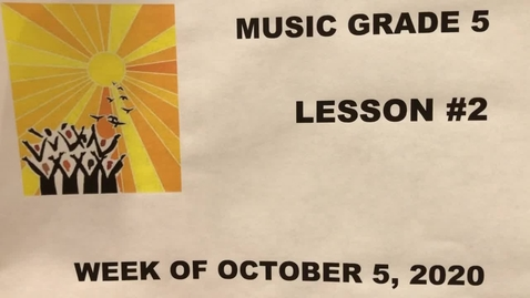 Thumbnail for entry Music Grade 5 Video Lesson #2
