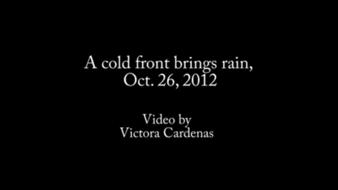 Thumbnail for entry A cold front brings rain, Oct. 26, 2012