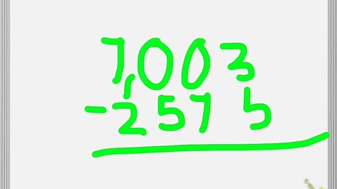 Thumbnail for entry Mackenzie explaining how to subtract.